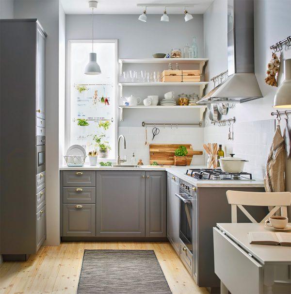 1 trong những mẫu nhà bếp nhỏ đẹp đầy đủ vật dụng