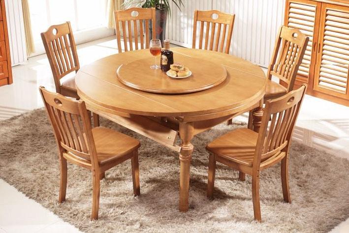 12+ Mẫu bàn ăn tròn đẹp bằng gỗ ấm cúng dành cho đại gia đình
