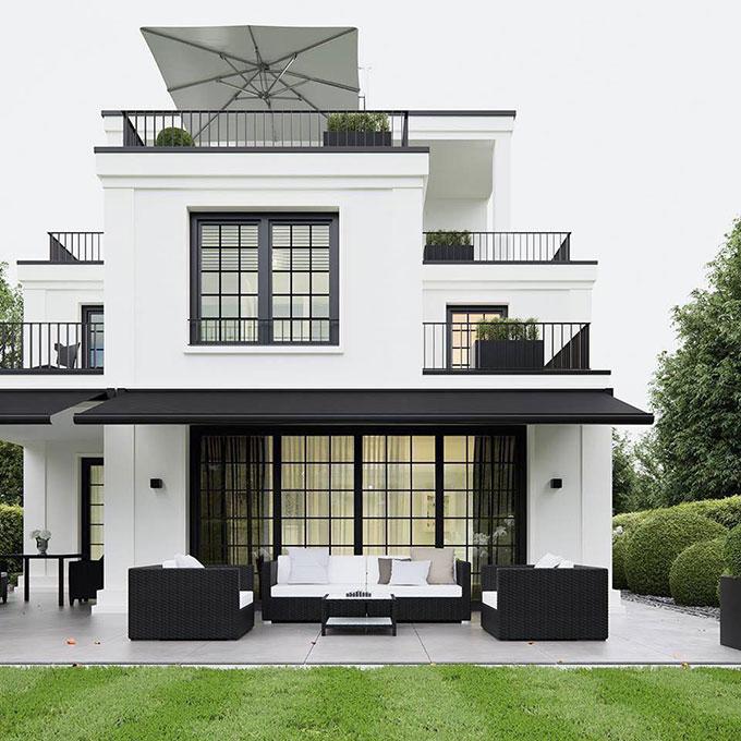 Biệt thự 2 tầng hiện đại mái bằng