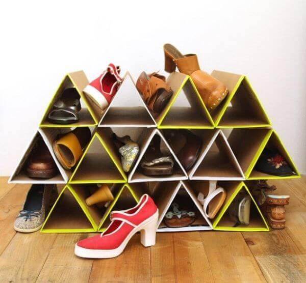 Cách làm tủ bằng thùng giấy cho kệ giày dép nhà bạn