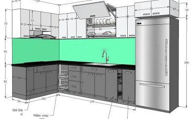 [Hướng dẫn] Cách chọn kích thước tủ bếp tiêu chuẩn cho người Việt