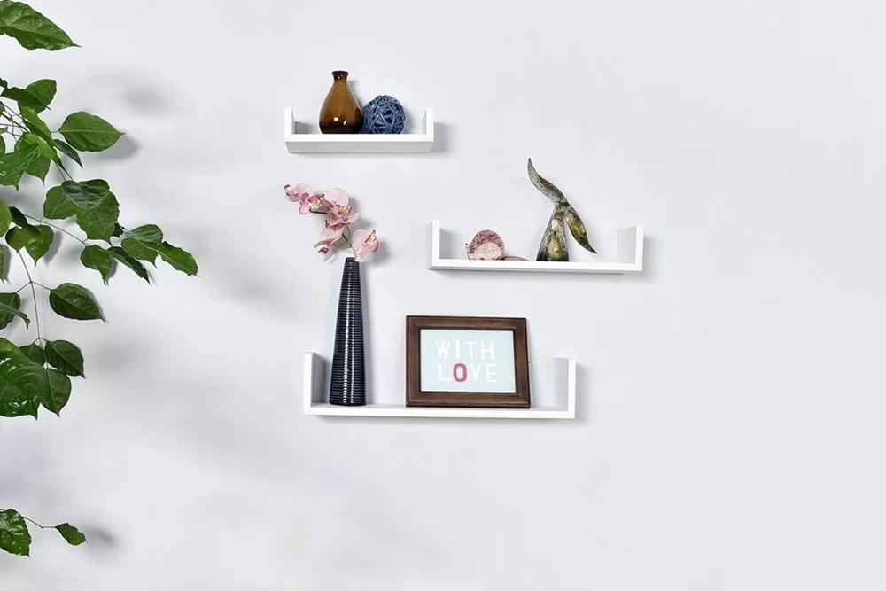 Kệ trang trí phòng khách nhỏ hình chữ U