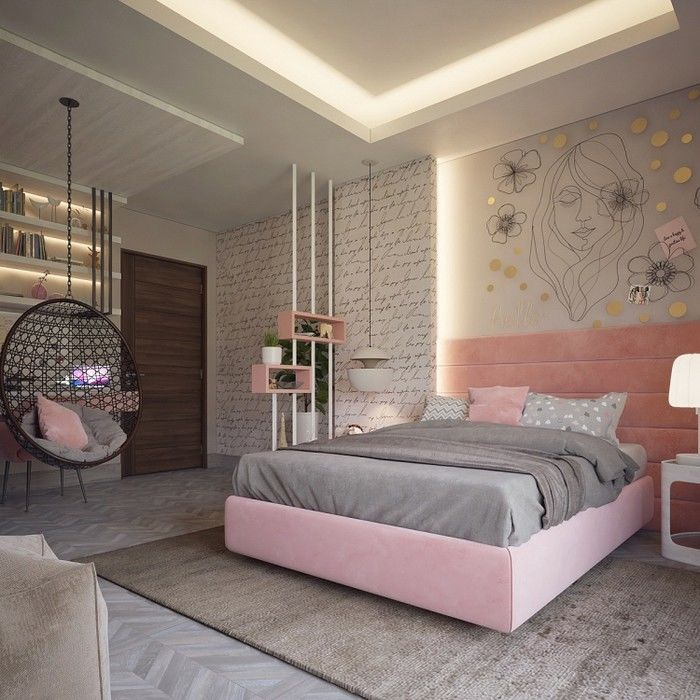 Kiểu phòng ngủ đơn giản cho nữ
