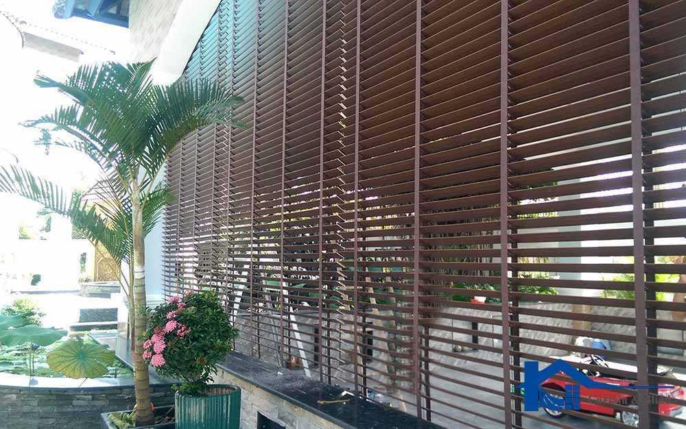 Màn sáo gỗ ngoài trời cho quán ăn của bạn
