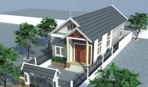 Mẫu căn nhà cấp 4 5x20 khi hoàn thành