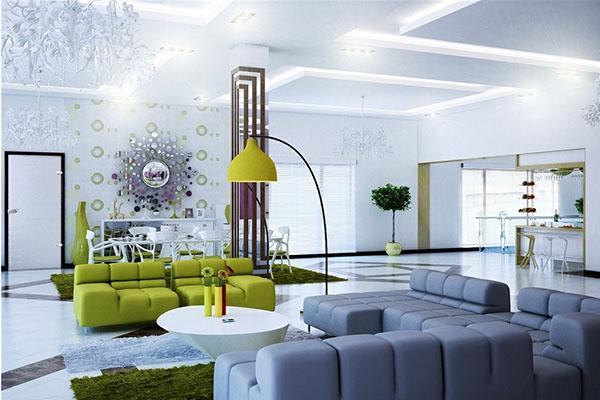Mẫu phòng khách đầy sáng tạo và rất ấn tượng