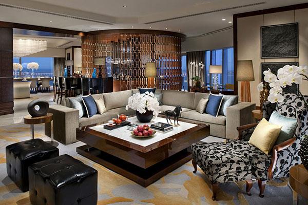 Mẫu phòng khách có nội thất xa xỉ