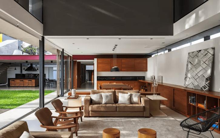 Mẫu phòng khách hiện đại - cổ điển