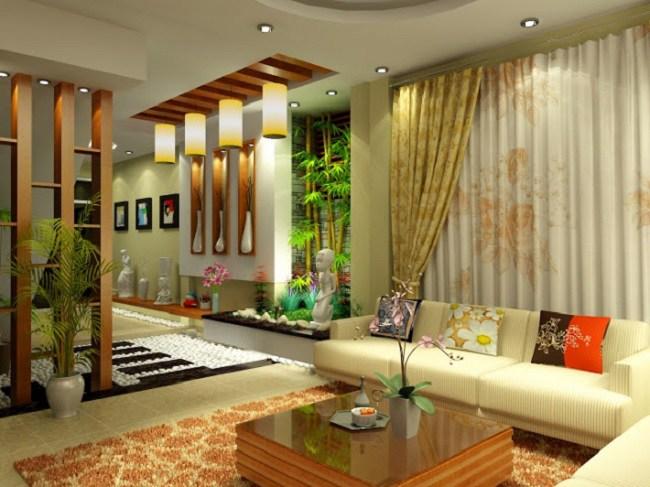 Mẫu phòng khách màu sắc hài hòa tuyệt đẹp