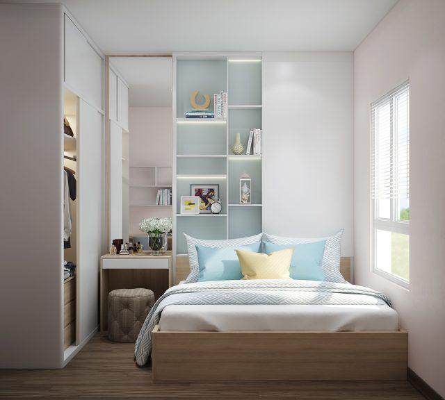 Mẫu thiết kế với nội thất cho phòng ngủ nhỏ