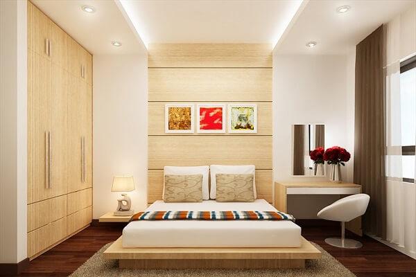 Mẫu trần thạch cao đơn giản cho phòng ngủ