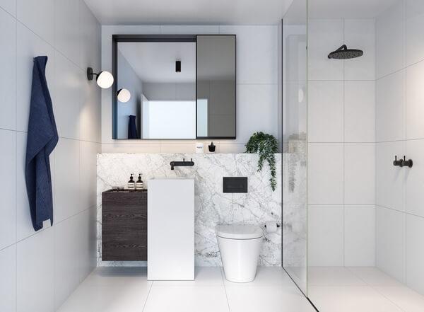 Mẫu nhà vệ sinh với phong cách tối giản nhưng hiện đại