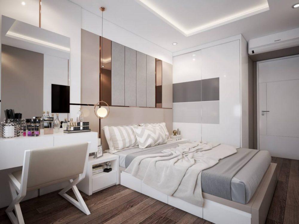 Nội thất phòng ngủ được thiết rất hiện đại