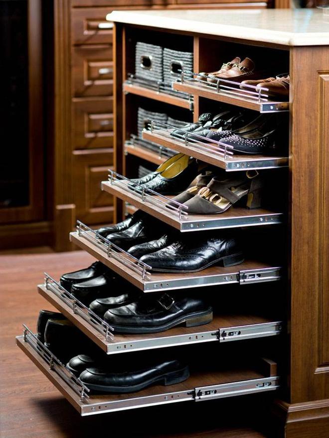 Ngăn kéo phụ kiện tủ giày thông minh