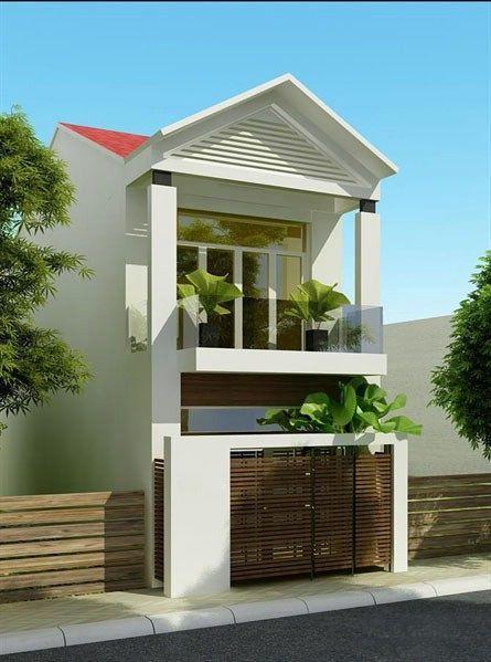 Nhà 2 tầng mái thái đơn giản