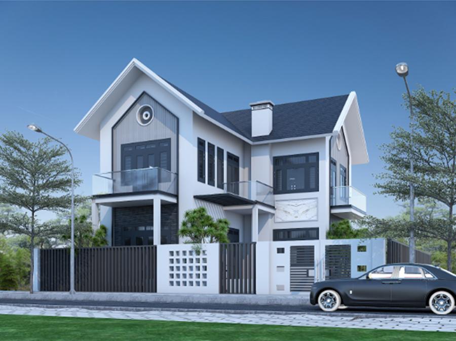 Nhà 2 tầng mái thái hiện đại