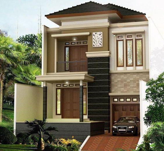 Nhà 2 tầng mái thái màu sắc đẳng cấp