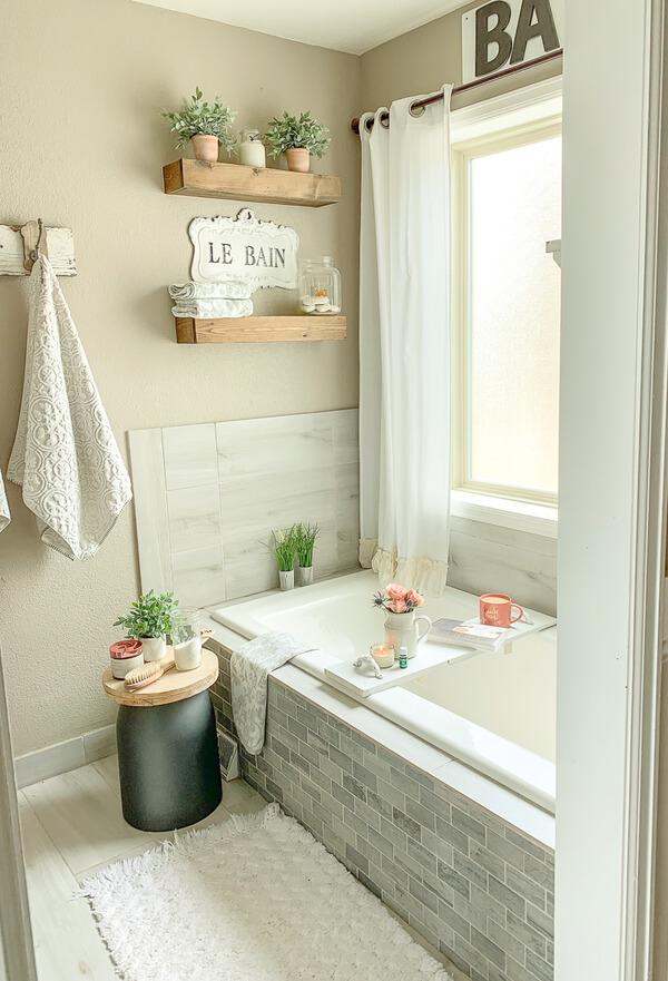 Nhà vệ sinh đẹp với gam màu pastel