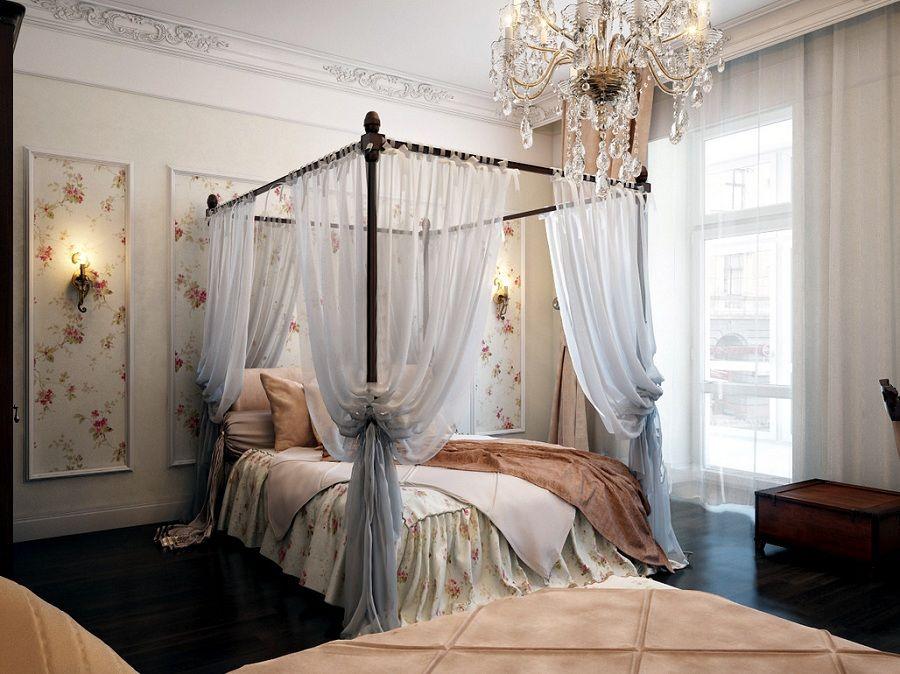 Phòng ngủ được trang trí như công chúa