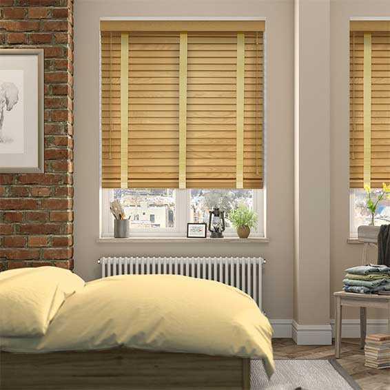 Rèm cửa gỗ tự nhiên cho phòng ngủ
