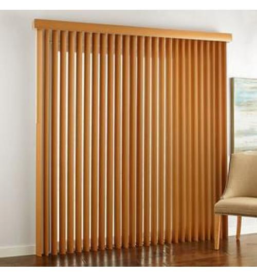 Rèm gỗ dọc độc đáo cho phòng khách
