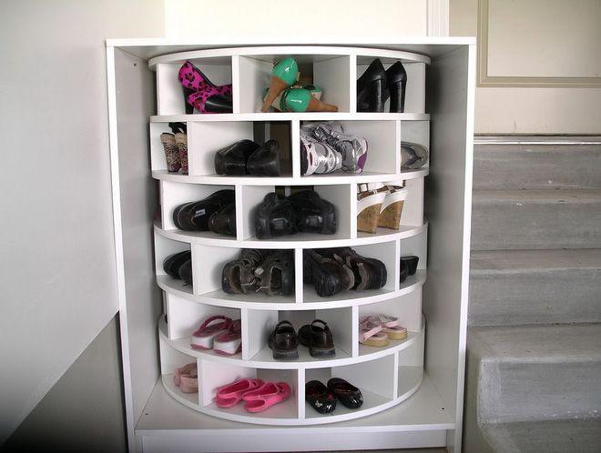 Tủ đựng giày thông minh trụ tròn