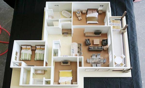 Thiết kế 3 phòng ngủ có ban công lớn