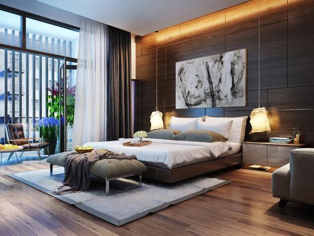 Tone màu của phòng ngủ trang trí đẹp và sạch sẽ cho nam