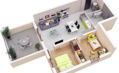 Top 6 mẫu thiết kế nội thất chung cư 2 phòng ngủ đẹp không thể cưỡng lại