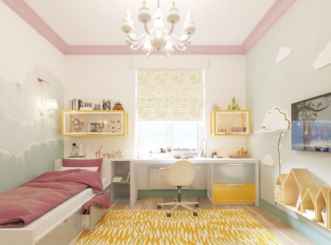 Trang trí phòng ngủ với màu sắc rực rõ cho nữ