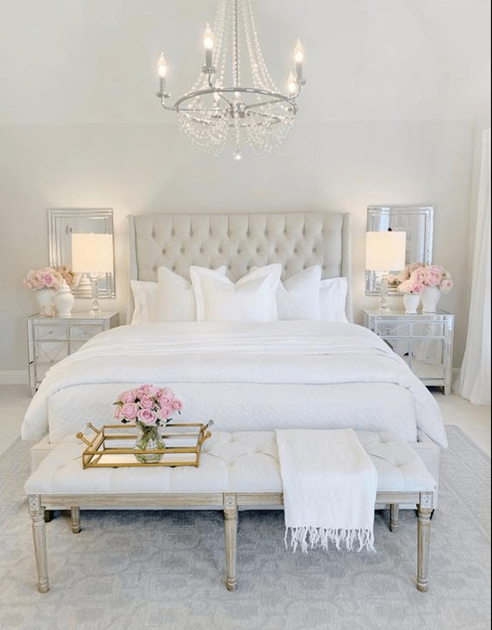 Đèn chùm đơn giản cho phòng ngủ