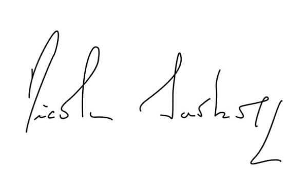 Chữ ký phong thủy mệnh mộc