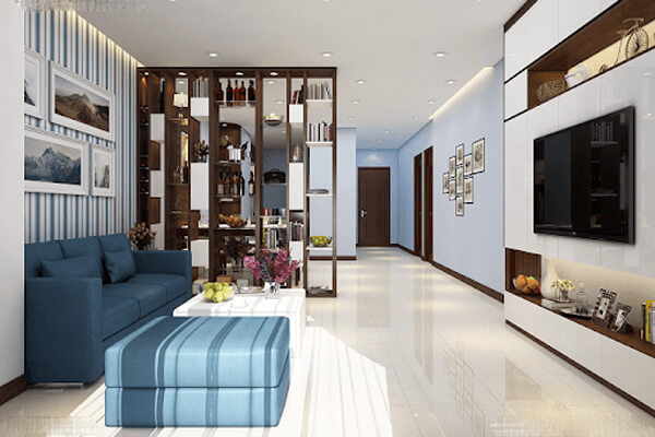 Cách thiết kế nội thất phòng khách nhà ống