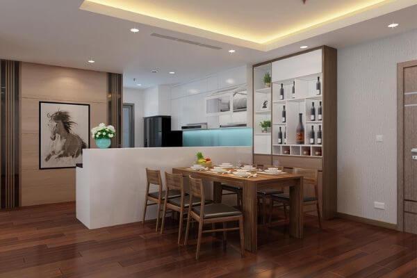 Không gian phòng bếp của ngôi nhà sang trọng
