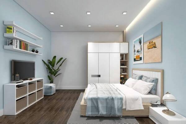 Mẫu phòng ngủ nhà ống tiện nghi nhất