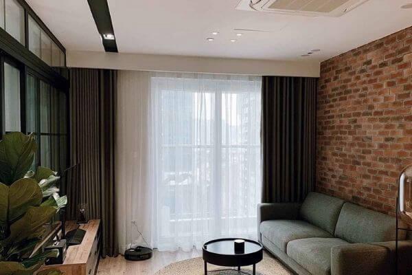 Mẫu thiết kế căn hộ chung cư 70m2 2 phòng ngủ