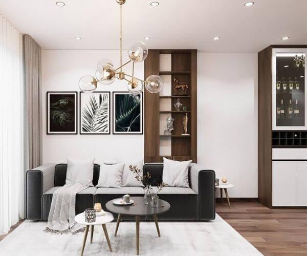 Mẫu thiết kế chung cư 70m2 đẹp có 3 phòng ngủ
