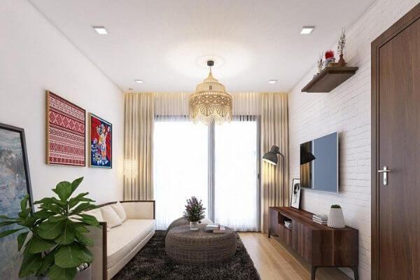 Mẫu thiết kế chung cư 70m2 đẹp, độc và lạ