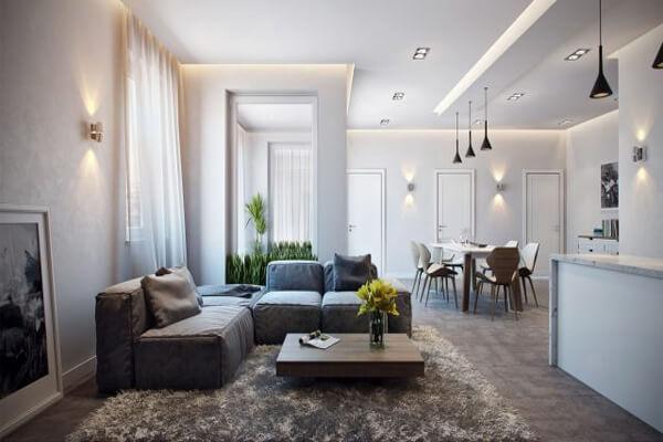 Mẫu thiết kế nhà chung cư 90m2 với 2 phòng ngủ