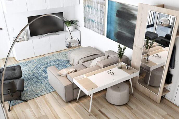 Mẫu thiết kế nội thất chung cư nhỏ 50m2 tiện lợi cho những gia đình trẻ
