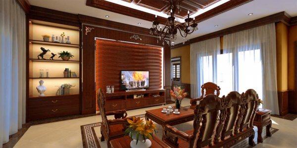 Mẫu thiết kế nội thất phòng khách cho các biệt thự