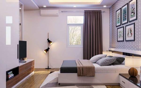 Mẫu thiết kế phòng ngủ khách sạn đẹp không có ban công