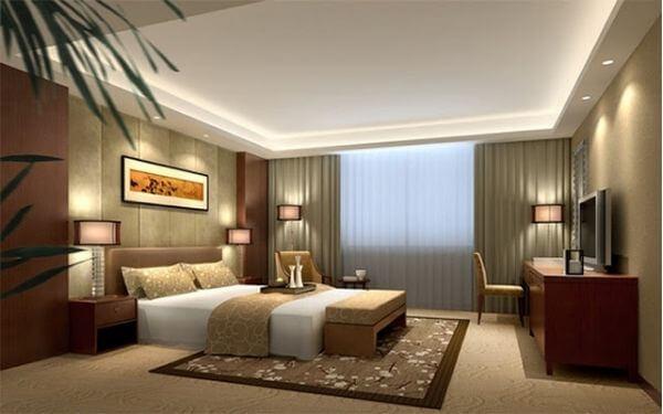 Mẫu thiết kế phòng ngủ khách sạn nhỏ có bàn làm việc