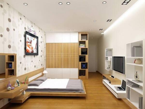 Mẫu thiết kế phòng ngủ nhà ống diện tích lớn