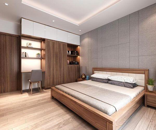 Mẫu thiết kế phòng ngủ nhà ống đơn giản
