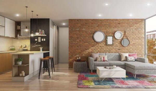 Nhà chung cư đẹp 60m2 theo kiểu mộc mạc nhất
