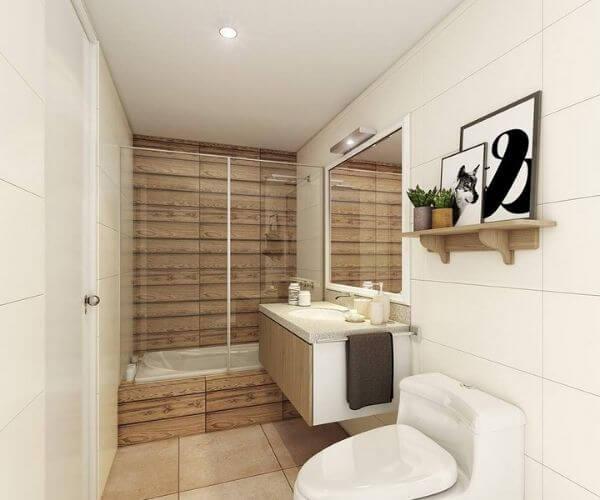 Nhà vệ sinh của nhà chung cư đẹp 60m2