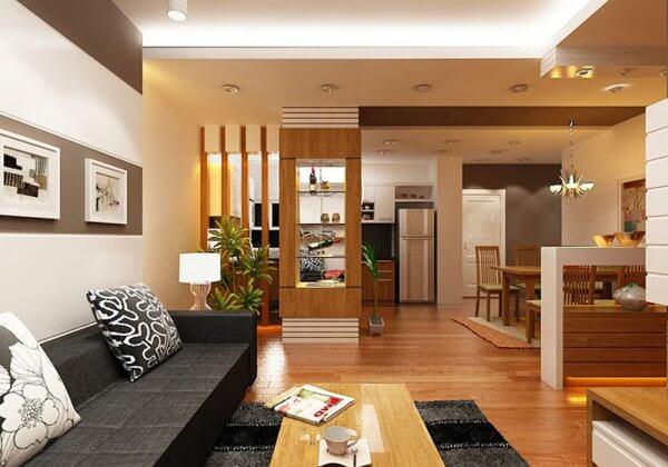 Những mẫu thiết kế phòng khách và phòng bếp gắn liền nhau