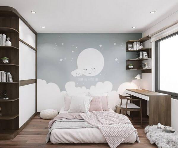 Những thiết kế nội thất chung cư 70m2 cho bé gái