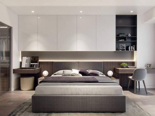 Phòng ngủ căn hộ 60m2 hiện đại nhất